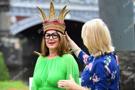 Stock Picture of Lord Mayor of Melbourne Sally Capp places a crown on Moomba monarch Julia Morris (L) during a preview of the 66th annual Moomba Festival in Melbourne, Victoria, Australia, 12 February 2020. The event will run from 06 to 09 March 2020.