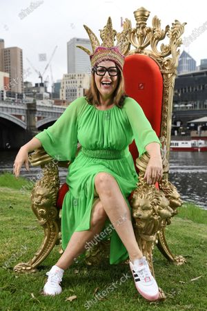 Moomba monarch Julia Morris poses for a photograph during a preview of the 66th annual Moomba Festival in Melbourne, Victoria, Australia, 12 February 2020. The event will run from 06 to 09 March 2020.