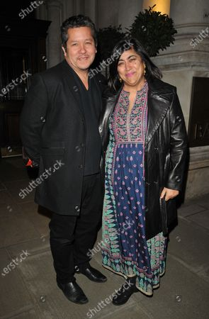 Stock Photo of Paul Mayeda Berges and Gurinder Chadha