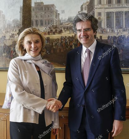 Editorial picture of Italian foreign secretary general Belloni meets with French counterpart Delattre, Rome, Italy - 12 Feb 2020