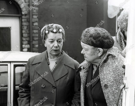 Ep 1892 Wednesday 7th March 1979  Deirdre leaves Tracy outside the Rovers whilst she calls on Annie. They are disturbed by a terrible crashing sound from outside as a lorry has spilt its load of timber crashing into the front of the pub itself. Hysterically, she claws at the timber shouting Tracy's name. With Hilda Ogden, as played by Jean Alexander ; Ena Sharples, as played by Violet Carson.