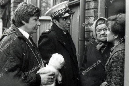 Ep 1892 Wednesday 7th March 1979  Deirdre leaves Tracy outside the Rovers whilst she calls on Annie. They are disturbed by a terrible crashing sound from outside as a lorry has spilt its load of timber crashing into the front of the pub itself. Hysterically, she claws at the timber shouting Tracy's name. With Ken Barlow, as played by William Roache ; Sgt. Cummings, as played by Michael Melia; Ena Sharples, as played by Violet Carson ; Emily Bishop, as played by Eileen Derbyshire.