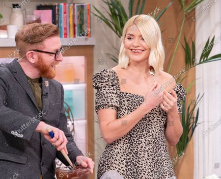 Holly Willoughby with Paul A Young