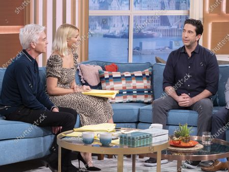Phillip Schofield and Holly Willoughby with David Schwimmer
