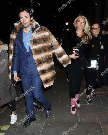 Editorial picture of Mark Francis and Tamara Beckwith out and about, London, UK - 11 Feb 2020