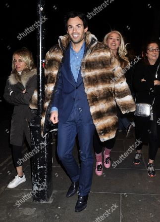 Editorial photo of Mark Francis and Tamara Beckwith out and about, London, UK - 11 Feb 2020