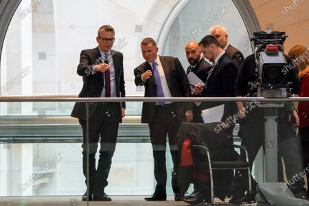 Speaker of the Israeli Knesset Yuli Edelstein (2-L) attends a session of the German parliament 'Bundestag' in Berlin, Germany, 12 February 2020. Members of Bundestag debated on the Coronavirus development among others.
