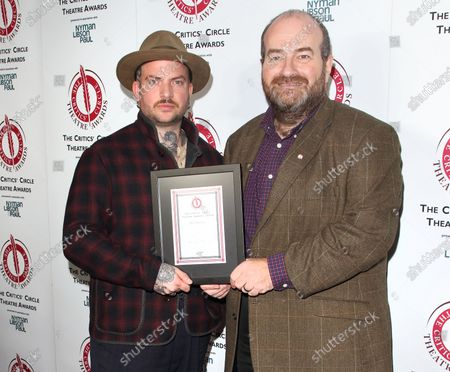 Jamie Lloyd receives his award for Best Director from critic Mark Shenton