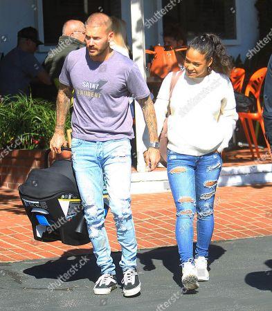 Stock Photo of M Pokora and Christina Milian