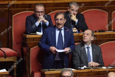 Ignazio La Russa during the votes on the Gregoretti case and the request for authorization to proceed for Salvini