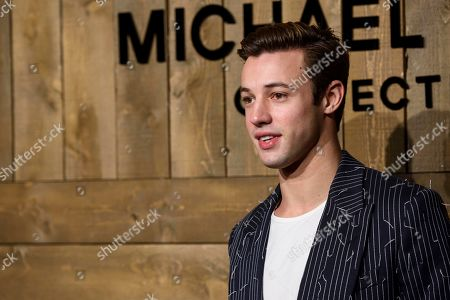 Cameron Dallas attends NYFW Fall/Winter 2020 - Michael Kors at The American Stock Exchange, in New York
