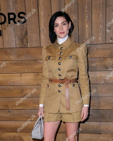 Leigh Lezark attends NYFW Fall/Winter 2020 - Michael Kors at The American Stock Exchange, in New York