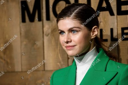 Alexandra Daddario attends NYFW Fall/Winter 2020 - Michael Kors at The American Stock Exchange, in New York