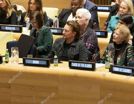Bono and Mary Robinson attends High-Level Event A Call to Action for the Education of Adolescent Girls