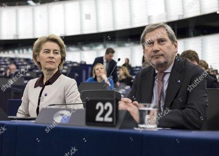 European Commission President Ursula von der Leyen and Commissioner Johannes Hahn