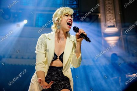 Carly Rae Jepsen performs during a concert at the Paradiso in Amsterdam, The Netherlands, 12 February 2020. It was the first club show ever in the Netherlands for the Canadian singer, who is best known for her hit 'Call Me Maybe'.
