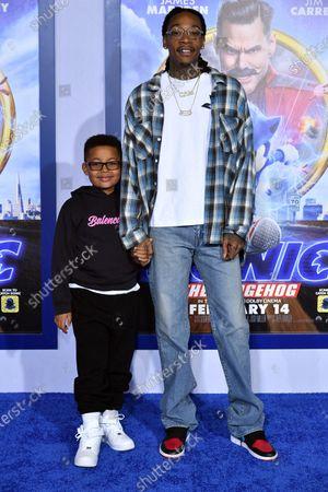 Stock Picture of Sebastian Taylor Thomaz and Wiz Khalifa