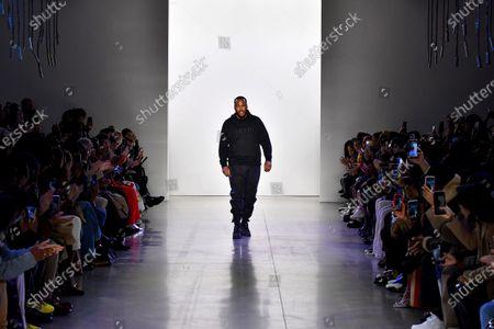 Stock Image of Jason Rembert on the catwalk