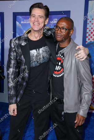 Stock Picture of Jim Carrey and Tommy Davidson