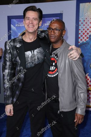 Stock Image of Jim Carrey and Tommy Davidson