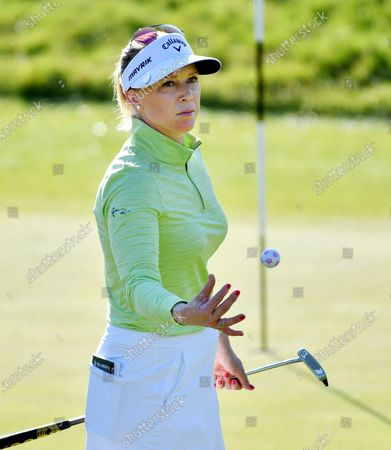 Morgan Pressel of the US during day 1 of the Women's Australian Open golf tournament at The Grange Golf Club in Adelaide, Australia, 13 February 2020.