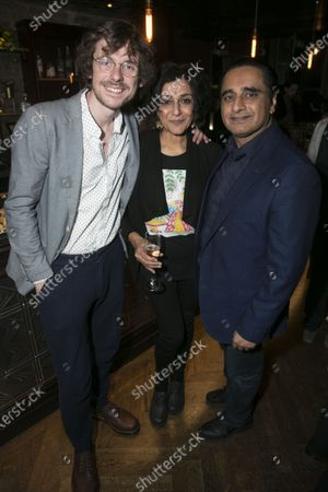 Joe Murphy, Meera Syal and Sanjeev Bhaskar