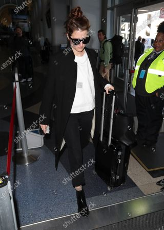 Editorial picture of Grace Gummer at Los Angeles International Airport, USA - 12 Feb 2020