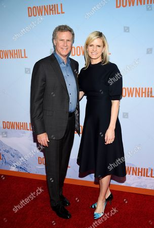 """Will Ferrell, Viveca Paulin. Actor Will Ferrell, left, and wife Viveca Paulin attend the premiere of """"Downhill"""" at the SVA Theatre on, in New York"""