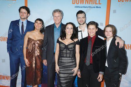 Stock Image of Zach Woods, Zoe Chao, Will Ferrell, Julia Louis-Dreyfus, Giulio Berruti, Ammon Jacob Ford and Julian Grey