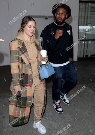 Editorial picture of Allison Holker and Stephen Boss at Los Angeles International Airport, USA - 12 Feb 2020
