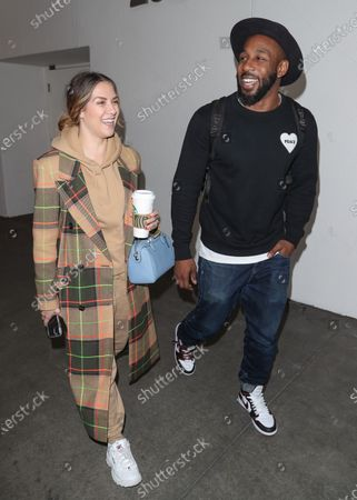 Editorial image of Allison Holker and Stephen Boss at Los Angeles International Airport, USA - 12 Feb 2020