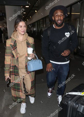 Editorial photo of Allison Holker and Stephen Boss at Los Angeles International Airport, USA - 12 Feb 2020
