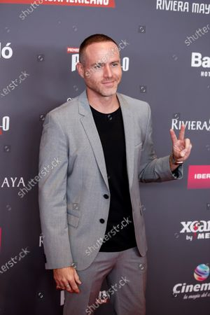 Stock Image of Erik Hayser poses on the red carpet while arriving for the 2020 Xcaret Platinum Awards, in Mexico City, Mexico, 12 February 2020. The Platinum Awards showcases notable contributions to Ibero-American Cinema.