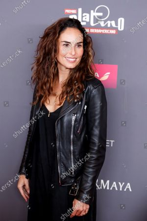 Ana Serradilla poses on the red carpet while arriving for the 2020 Xcaret Platinum Awards, in Mexico City, Mexico, 12 February 2020. The Platinum Awards showcases notable contributions to Ibero-American Cinema.
