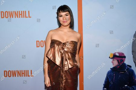 """Zoe Chao attends the premiere of """"Downhill"""" at the SVA Theatre on, in New York"""