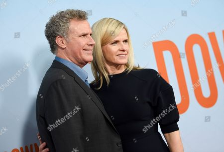 """Stock Picture of Will Ferrell, Viveca Paulin. Actor Will Ferrell, left, and wife Viveca Paulin attend the premiere of """"Downhill"""" at the SVA Theatre on, in New York"""