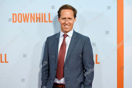 """Nat Faxon attends the premiere of """"Downhill"""" at the SVA Theatre on, in New York"""