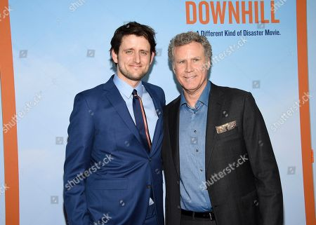 """Zach Woods, Will Ferrell. Actors Zach Woods, left, and Will Ferrell pose together at the premiere of """"Downhill"""" at the SVA Theatre on, in New York"""