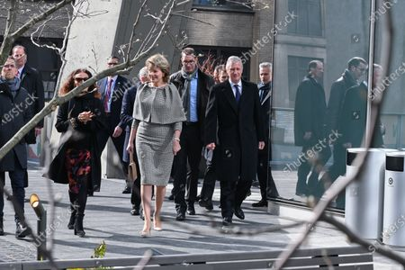 Editorial photo of King Philippe and Queen Mathilde visit New York, USA - 12 Feb 2020