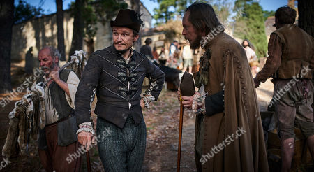 Stock Image of Damon Herriman as Punch and Tom Budge as Mr. Frankly