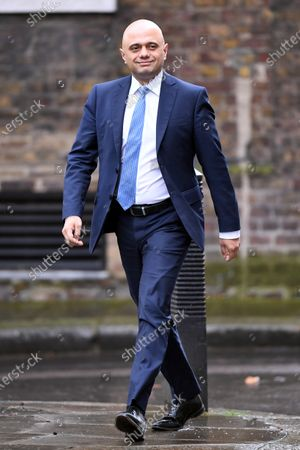 Sajid Javid, Chancellor of the Exchequer, arrives at No.10 Downing Street during a cabinet reshuffle.