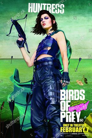 Birds of Prey: And the Fantabulous Emancipation of One Harley Quinn (2020) Poster Art. Mary Elizabeth Winstead as Helena Bertinelli/The Huntress