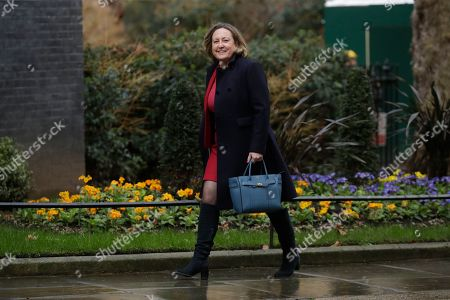Stock Picture of British lawmaker Anne-Marie Belinda Trevelyanarrives at 10 Downing Street in London, . British Prime Minister Boris Johnson shook up his government on Thursday, firing and appointing ministers to key Cabinet posts. Johnson was aiming to tighten his grip on government after winning a big parliamentary majority in December's election. That victory allowed Johnson to take Britain out of the European Union in January