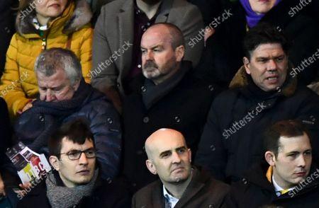 Former Scotland manager Steve Clarke looks on