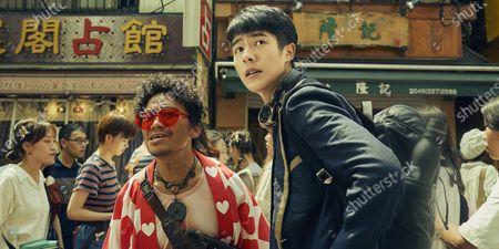 Stock Photo of Baoqiang Wang as Tang Ren and Haoran Liu as Qin Feng