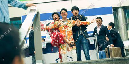 Stock Photo of Baoqiang Wang as Tang Ren, Satoshi Tsumabuki as Noda Hiroshi and Haoran Liu as Qin Feng