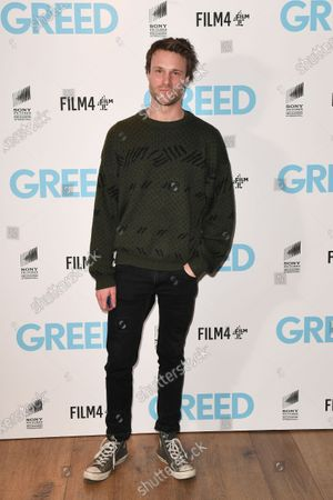 Hugh Skinner attends the Special Screening of Greed in London. Greed releases in UK cinemas on the 21st February