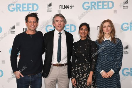 Ollie Locke, Steve Coogan, Dinita Gohil and Sophie Cookson attend the Special Screening of Greed in London. Greed releases in UK cinemas on the 21st February