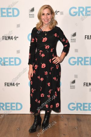 Sally Phillips attends the Special Screening of Greed in London. Greed releases in UK cinemas on the 21st February