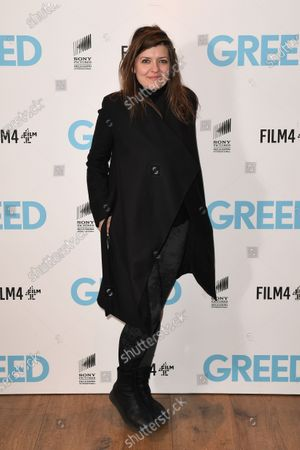 Melissa Parmenter attends the Special Screening of Greed in London. Greed releases in UK cinemas on the 21st February